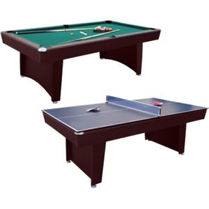 Walker And Simpson Pool & Table Tennis Combo Table In Mahogany Sub 8447k2 Mahog