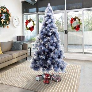 Homcom Christmas Tree, 210h Cm, W/replica Berry And Spruce-grey