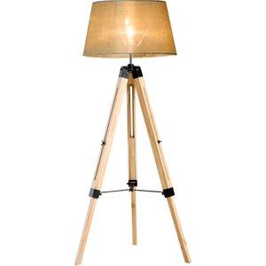 Homcom Classic Tripod Floor Lamp, Adjustable Height-cream White