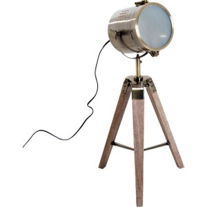 Homcom Floor Lamp, 33l-wood/bronze Colour
