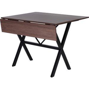 Homcom Folding Dining Table Mdf Top Metal Frame 6 Person Black