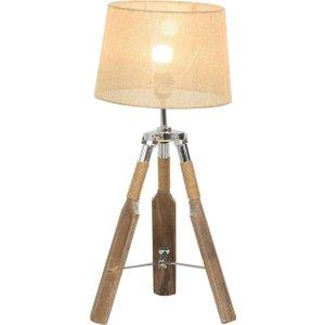 Homcom Linen Shade Tripod Table Lamp Beige