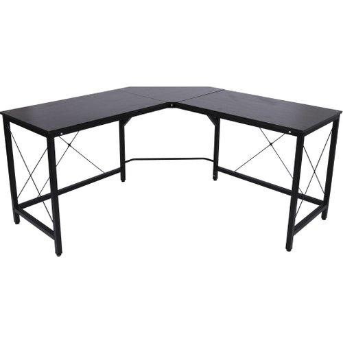 Homcom L-shaped Corner Desk Computer Desk Table For Home Office Workstation W/steel Frame