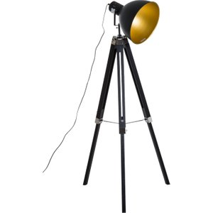 Homcom Retro Tripod Floor Lamp-black/gold