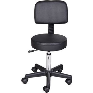 Homcom Salon Spa Swivel Chair, Pu Leather-white