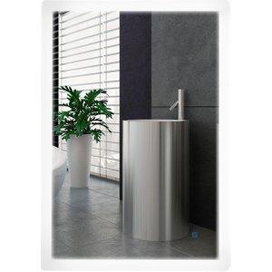 Kleankin Glass Led Illuminated Vertical Bathroom Wall Mirror