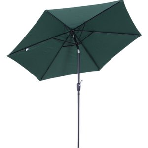 Outsunny 2.7m Patio Garden Umbrella Outdoor Parasol W/ Crank And 38mm Aluminum Tilt Pole-g