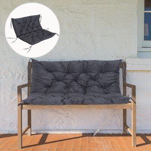 Outsunny 2-seater Cushion,100wx98lx8t Cm-dark Grey
