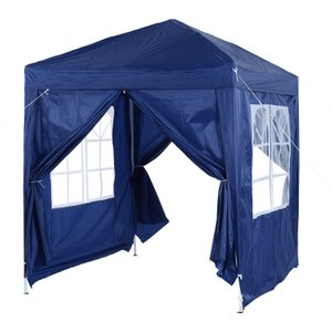 Outsunny 2x2m Garden Pop Up Gazebo Marquee Party Tent Wedding Awning Canopy W/ Free Carryi