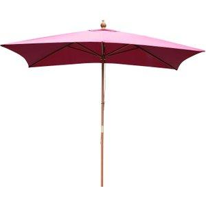 Outsunny 3m X 2m Wood Wooden Garden Parasol Sun Shade Patio Outdoor Umbrella Canopy New (w