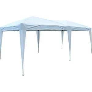 Outsunny 6x3 M Pop-up Gazebo-white Oxford Cloth/steel
