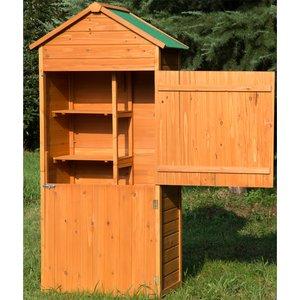 Outsunny 89w X 50d (cm) Wooden Garden Shed-teak