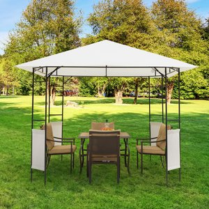 Outsunny Modern Outdoor Gazebo For Garden And Festivals, Patio Party Tent, Wedding Canopy