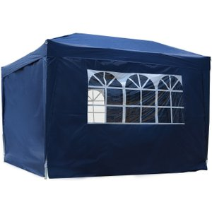 Outsunny Pop Up Gazebo Marquee, Size (3m X 3m)-blue