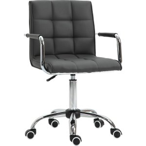 Vinsetto Executive Pu Swivel Office Chair Armchair With Adjustable Height 5 Wheels Thick P