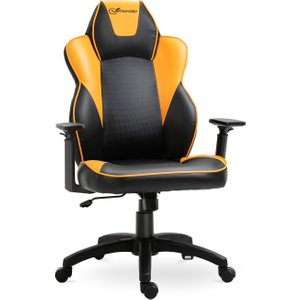 Vinsetto Pu Leather Adjustable Armrest Gaming Chair Black/orange