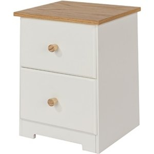 Furniture Express Colorado 2 Drawer Petite Bedside Cabinet