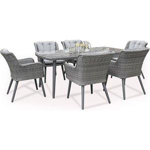 Maze Rattan Florence 6 Seat Rectangular Dining Set