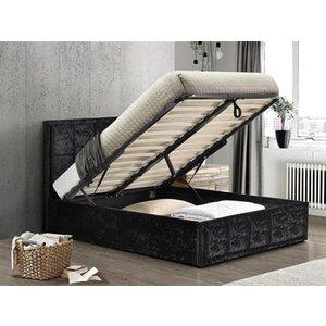 Birlea Hannover Fabric Ottoman Bed, Black