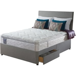 Sealy Posturepedic Pearl Luxury Divan Set - Small Double (4' X 6'3), 2+2 Continental Drawe
