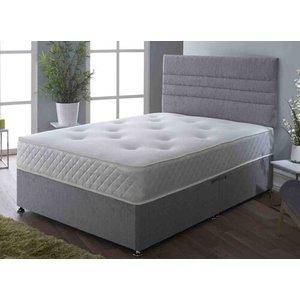 Hyder Beds Seville Pocket Memory Plus 1000 Divan Set - Double (4'6 X 6'3), No Storage, Hyder_chenille