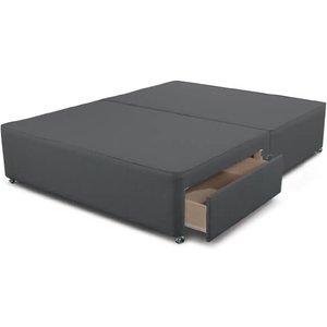 Sleepeezee Ashford Divan Base - King Size (5' X 6'6), 4 Drawers, Sleepeezee_tweed Charcoal 5055668722882 Beds