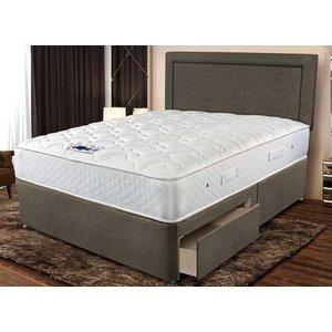 Sleepeezee Memory Comfort 800 Pocket Divan Set - Double (4'6 X 6'3), Sleepeezee_smooth Cre
