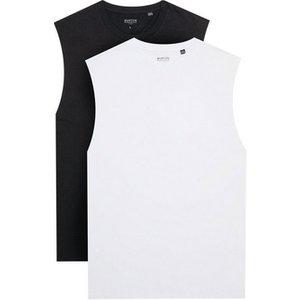 Mens **burton 2 Pack White And Black Tank Vest, White Br45m12qwht Mens Outerwear, White