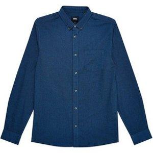 Mens Burton Marine Blue Oxford Shirt, Blue Br22p10qblu Mens Outerwear, Blue