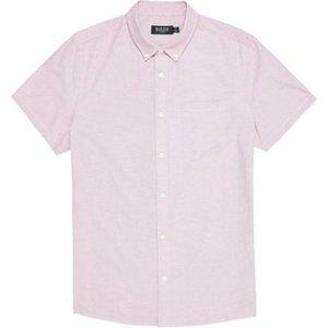 Mens Burton Pink Short Sleeve Oxford Shirt, Pink Br22o02qpnk Mens Outerwear, Pink