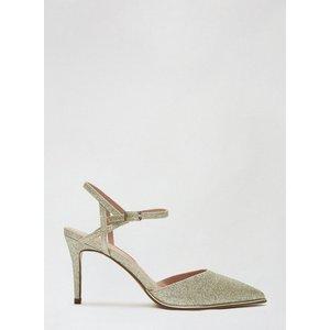 Dorothy Perkins Womens Gold 'elfie' Court Shoes, Gold Dp19744921 Womens Footwear, Gold