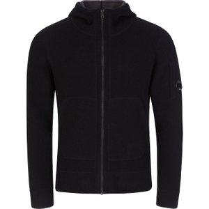 C.p. Company Black Knit Jacket - Size S 537 Mkcp0001 Mens Clothing, 537