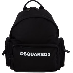 Dsquared2 Black Nylon Logo Backpack - Size 537 Mbds0003 Accessories, 537