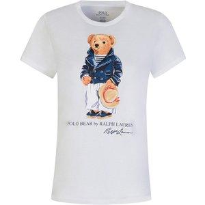 Polo Ralph Lauren White Polo Bear Jersey T-shirt - Size 4 - 6 544 Wtpo0008 Womens Tops, 544