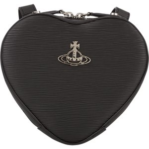 Vivienne Westwood Black Polly Heart Mini Backpack - Size 537 Wbvw0023 Bags, 537