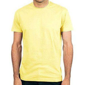 8ball Basics Blank Men's Regular Fit T Shirt - Pale Yellow Msimp140113579 Novelty T Shirts