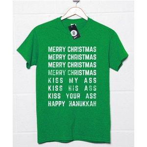 8ball Originals Merry Christmas Kiss My Ass T Shirt 8ballxmas Mcmcmchh 12 Novelty T Shirts
