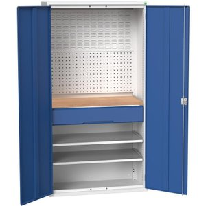 Bott Verso Fitted Tool Cupboard (worktop, 2 Drawers, 2 Shelves, 1 X Perfo, 1 X Louvre Pane 16926571 Office Supplies