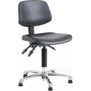 Cushioned High Lift Operator Swivel Chair With Glides - 550-800mm Dpu3 Office Supplies