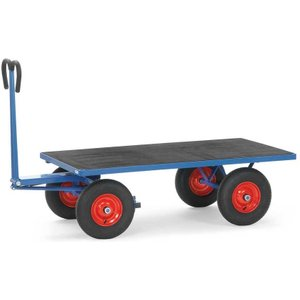 Fetra H/d Turntable Truck/cart 1600 X 900mm 1000kg Capacity Cushion Tyre E315580 Office Supplies