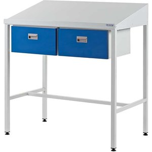 Flat Top Workstation With 2 Drawers 920mm H X 1000mm W X 460mm D Tlf9210463lx Office Supplies