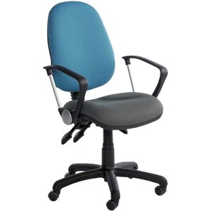 Fully Ergonomic 2 Tone Office Chair With Castors X2 Office Supplies