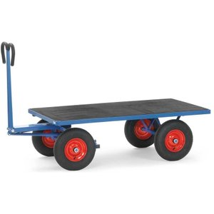 Fetra H/d Turntable Truck/cart 1200 X 800mm 1000kg Capacity Cushion Tyre E315589 Office Supplies