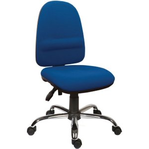 High Back Operator Chair With Lumbar Support - Blue 2900blu Office Supplies