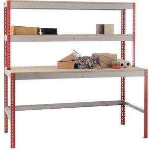 Just Workstation 1.8m X 750 - Chipboard Top & 2 Upper Shelves Jawa7518 Office Supplies