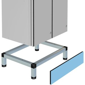 Stand For Single Aluminium Body Lockers  150h X 300w X 500d Includes Front Plinth Stand Zen 180 30 50 Office Supplies