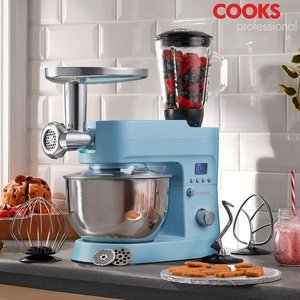 Cooks Professional G2880 Blue Multi-function 1200w Stand Mixer Iw496254 Kitchen