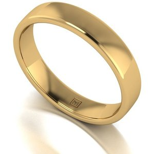 Lady Lynsey 9ct Yellow Gold Heavy Weight Court Shaped Wedding Ring 4mm Iw470717