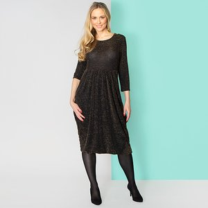 Nicole Collection Nicole Glitter Drape Dress Iw499675