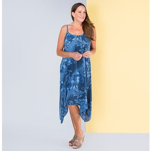 Sugar Crisp Flower Print Textured Strap Dress Iw484120